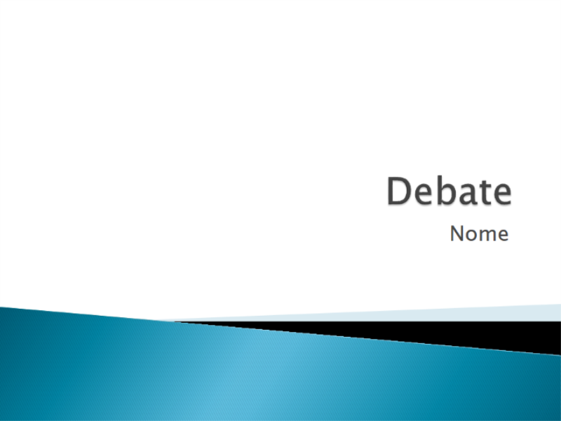 Apresentação sobre debates