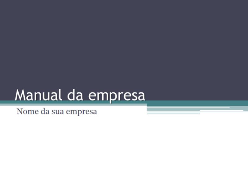 Manual da empresa
