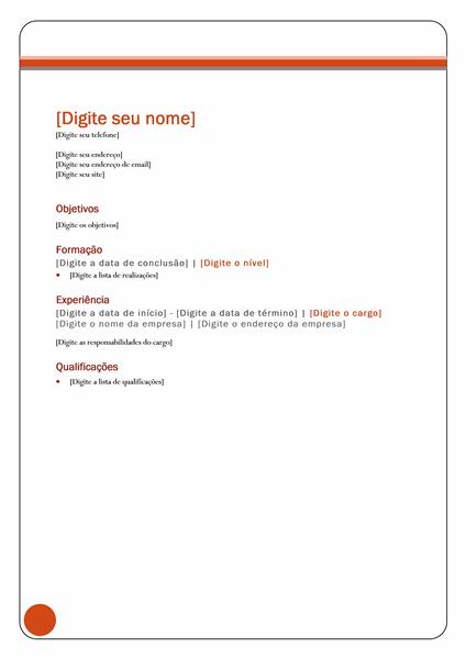 Currículo (design Patrimônio Líquido)