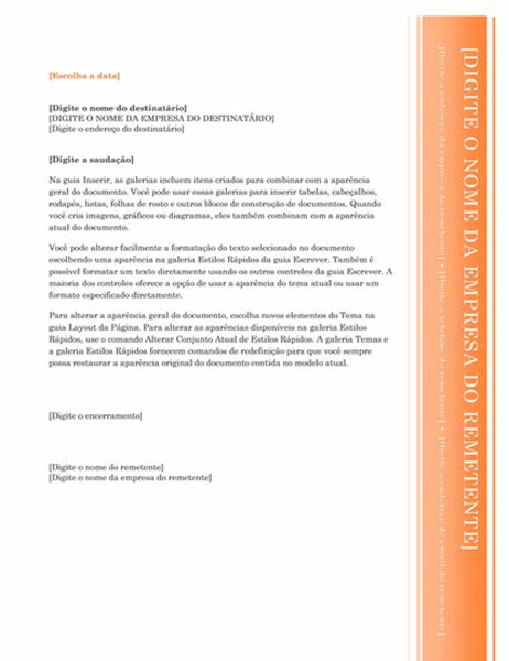 Carta (design Balcão Envidraçado)