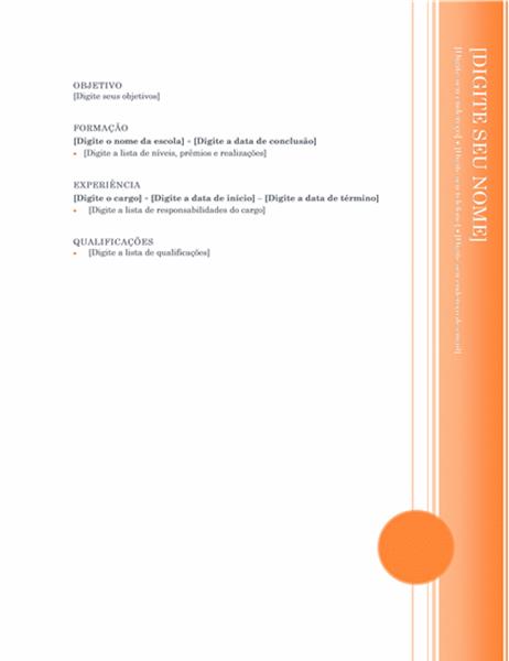 Currículo (design Balcão Envidraçado)