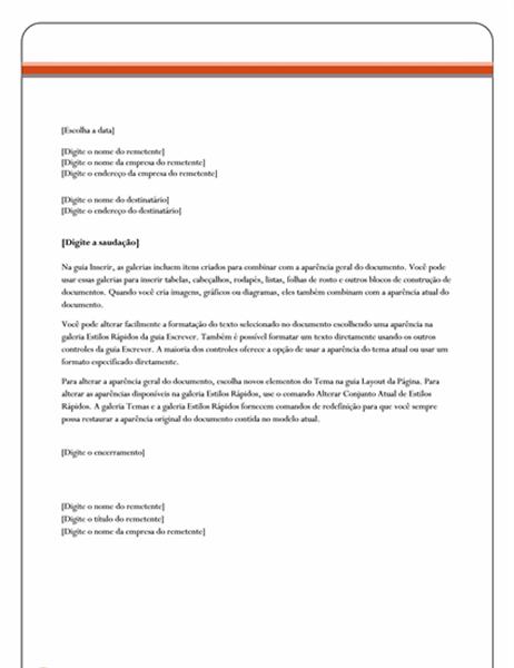 Carta (design Patrimônio Líquido)