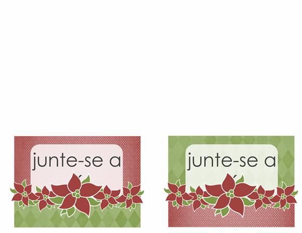Convite para festa de férias (design Bico-de-papagaio)