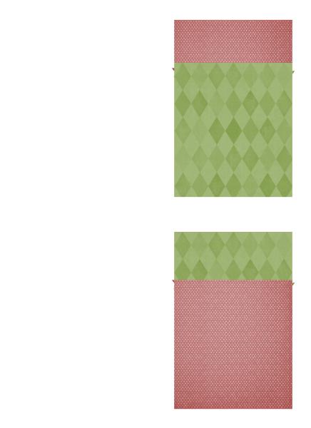 Cartão de agradecimento de férias (design Bico-de-papagaio, dobrado em quatro)