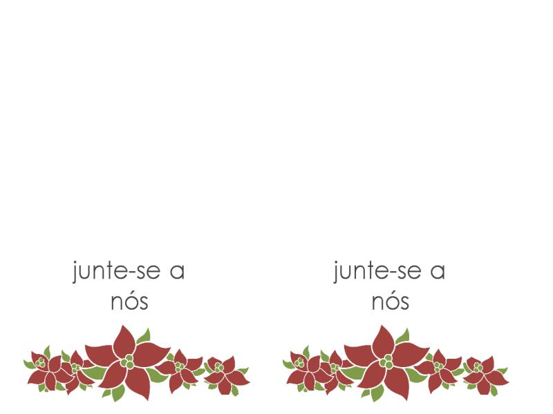 Convite para festa (design Poinsettia)