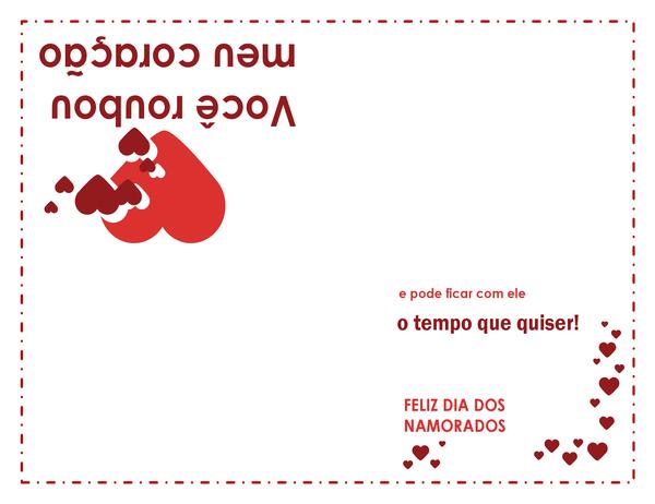Cartão para o dia dos namorados (design de coração)