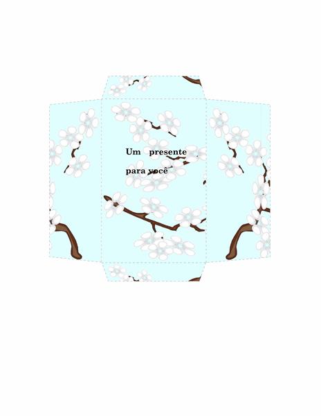 Envelope de dinheiro (design de flores azul)