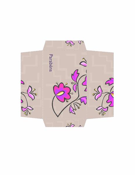 Envelope de dinheiro (design de flores)