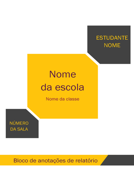 Kit de bloco de anotações de relatório para estudantes (capa, lombada de fichário, etiquetas divisórias)