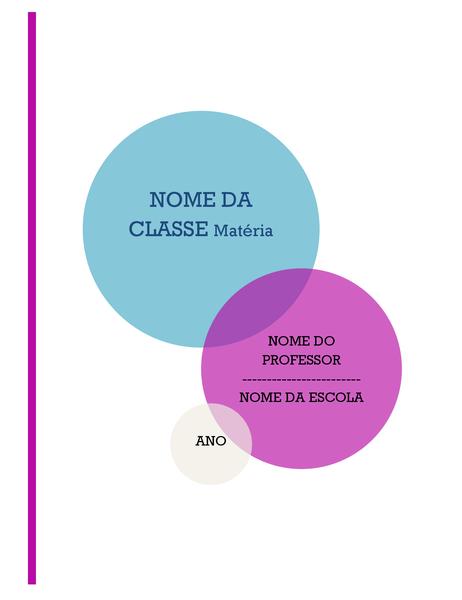 Kit de bloco de anotações de relatório para escolas (capa, lombada de fichário, etiquetas divisórias)