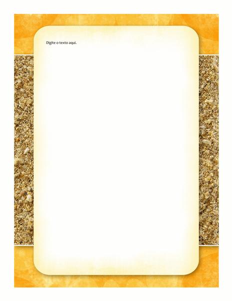 Material para escritório (design de sol e areia)