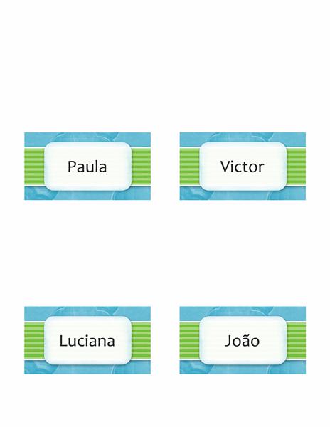 Cartões de nome ou local (design de nuvens, estilo dobrável)