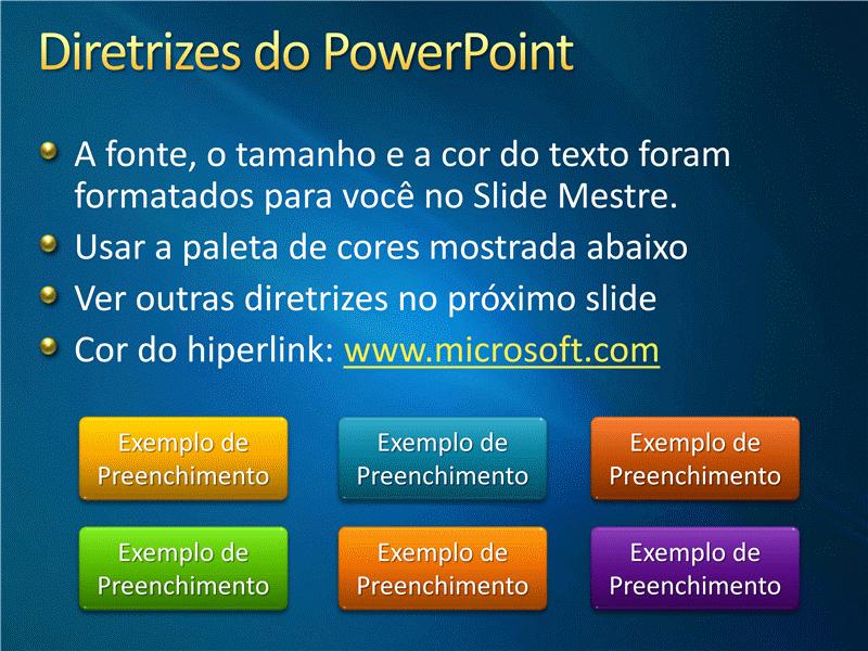 Amostra de slides de apresentação (Design de fitas azuis)
