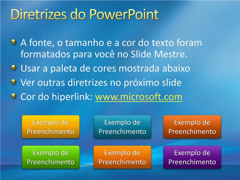 Amostra de slides de apresentação (Design de raios azuis)