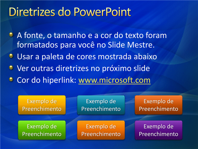 Amostra de slides de apresentação (Design de formas de movimento azuis)