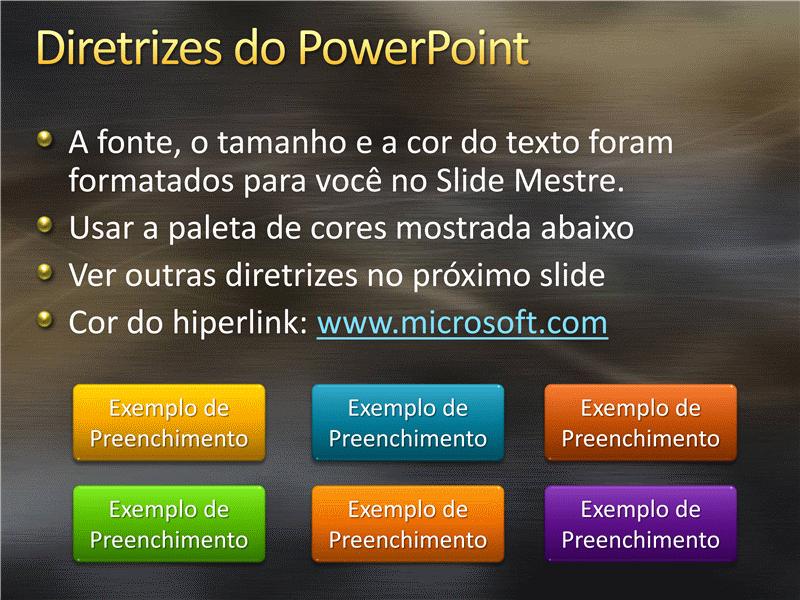 Amostra de slides de apresentação (Design de metal escovado e curvas)