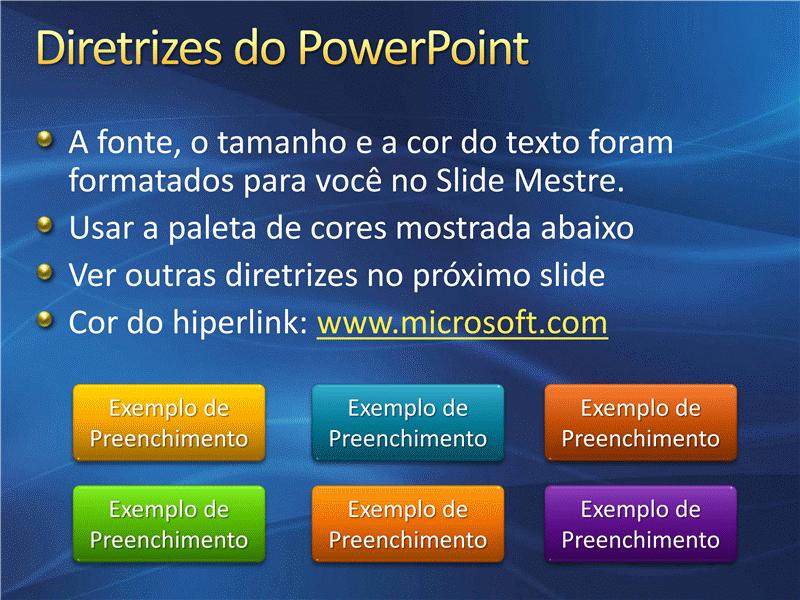 Amostra de slides de apresentação (Design de formas de onda com fundo azul-escuro)