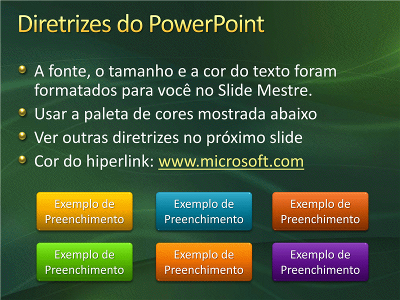 Amostra de slides de apresentação (Design de formas de movimento verdes)