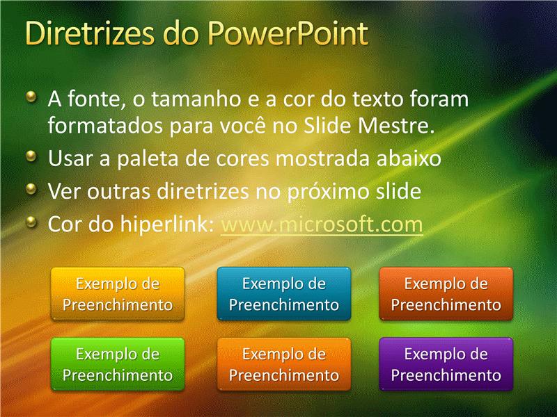 Amostra de slides de apresentação (Design de textura verde e dourada)