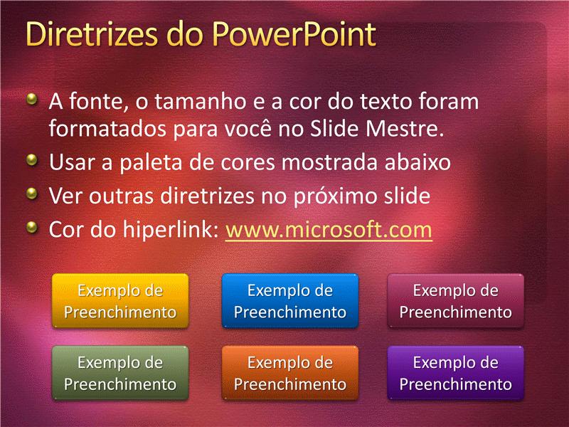 Amostra de slides de apresentação (Design com textura na cor vinho)