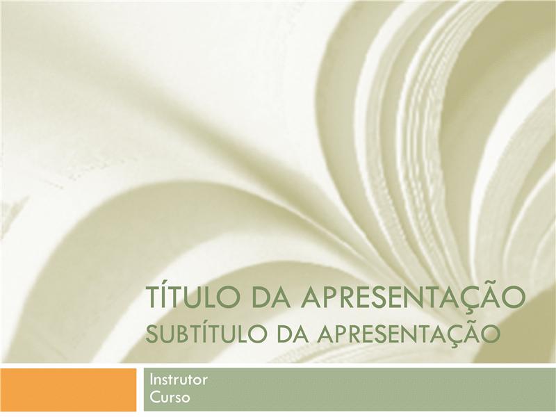 Apresentação acadêmica para curso universitário (design de livro escolar)