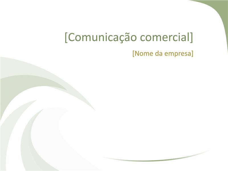 Slides de design comercial (design de Onda Verde)
