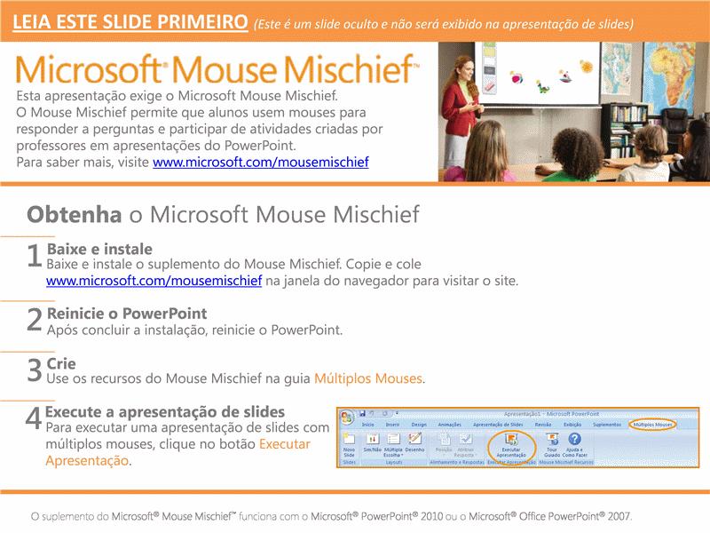 Mouse Mischief - Posicionar valor com blocos de unidade