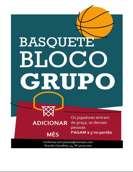 Panfleto de basquete