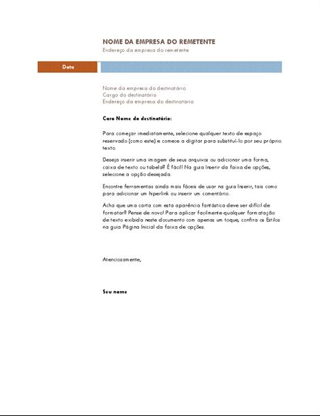 Carta comercial (tema mediano)