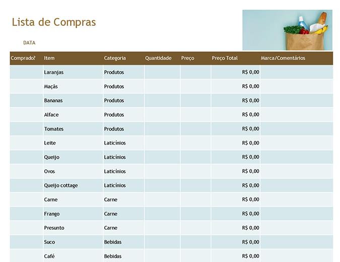 Listas de supermercado