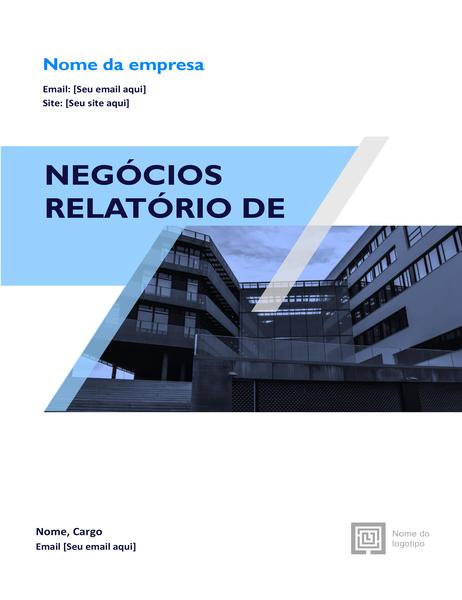 Relatório empresarial (design gráfico)