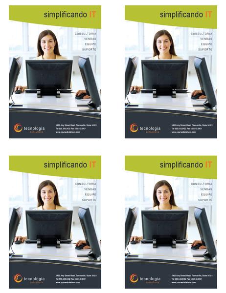 Panfleto de empresas de tecnologia (um quarto de página, 4 por página)
