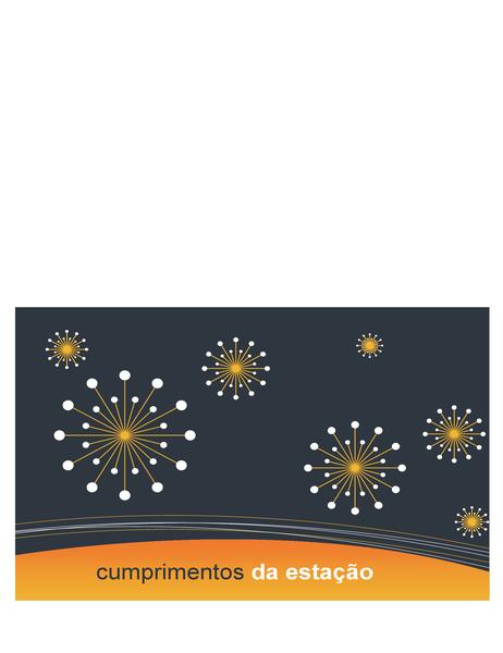Cartão comemorativos de empresas de tecnologia (dobrado ao meio)