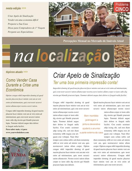 Boletim informativo de imobiliárias (4 páginas)