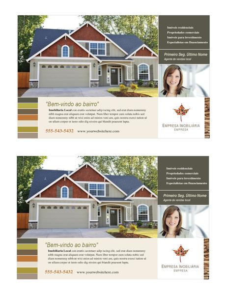 Panfleto para imobiliárias (meia página, 2 por página)
