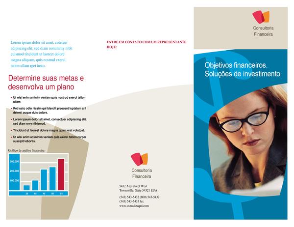 Folheto de empresa financeira (três dobras)