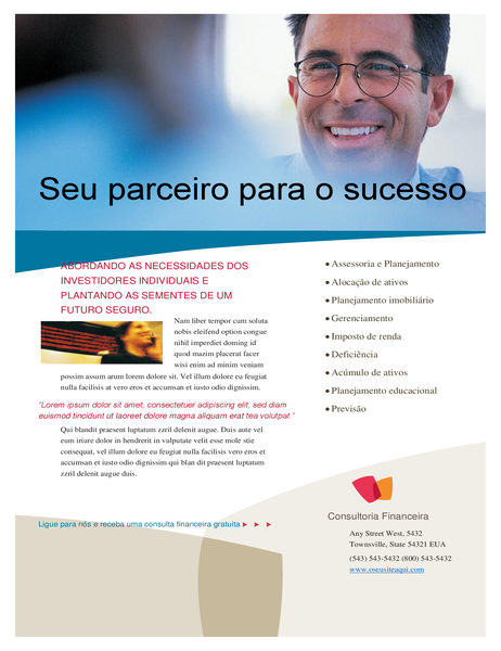 Panfleto de negócios financeiros