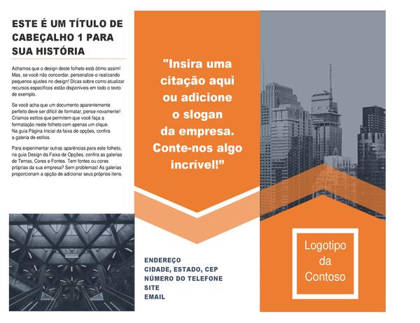 Folheto de arquitetura