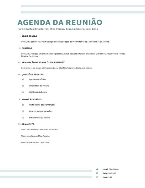 Agenda com faixa dupla