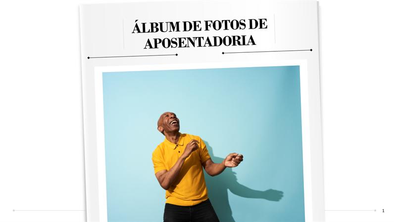Álbum de fotos de aposentadoria
