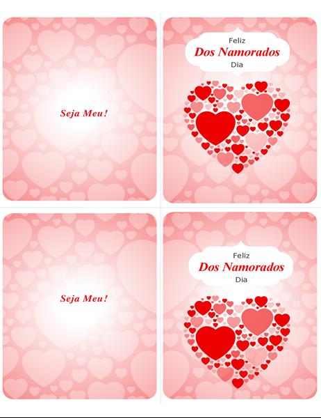 Comigo? Cartão de Dia dos Namorados