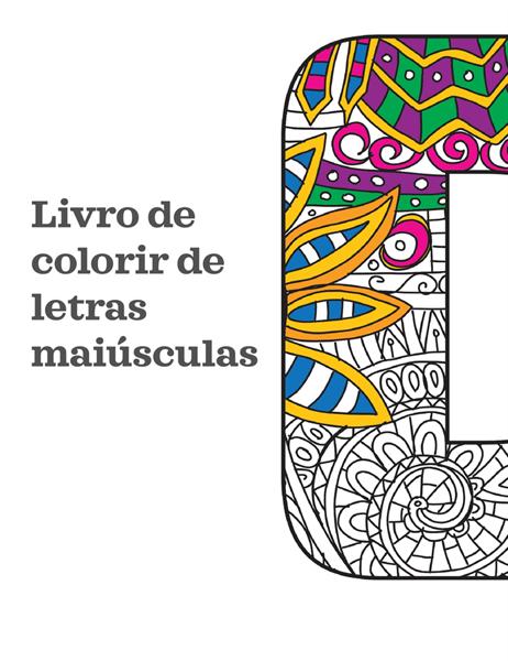 Livro para colorir de letras maiúsculas
