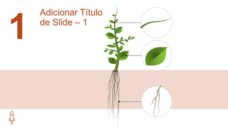 Animação com elemento gráfico de crescimento de árvore
