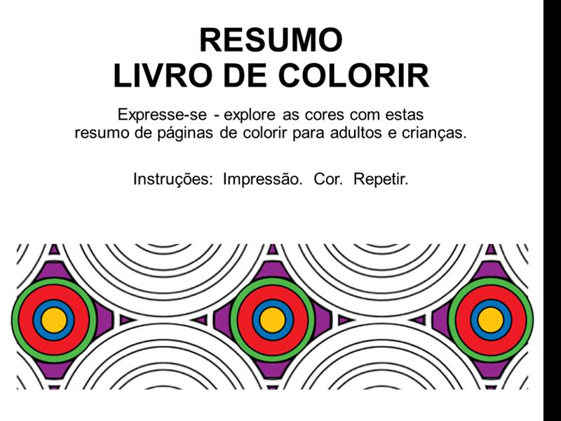 Livro para colorir abstrato