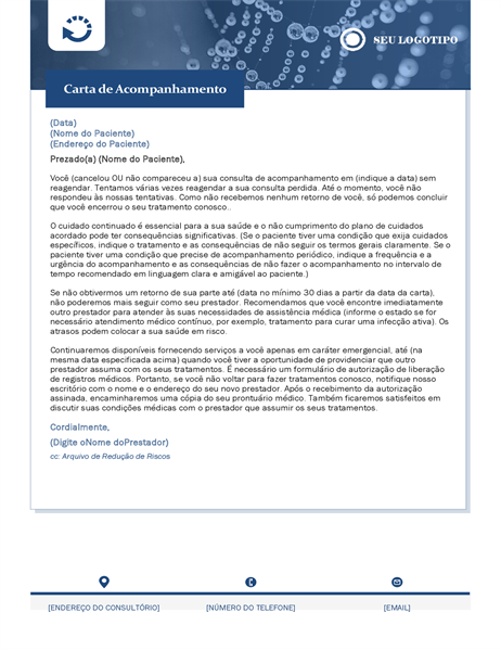 Carta de acompanhamento de assistência médica
