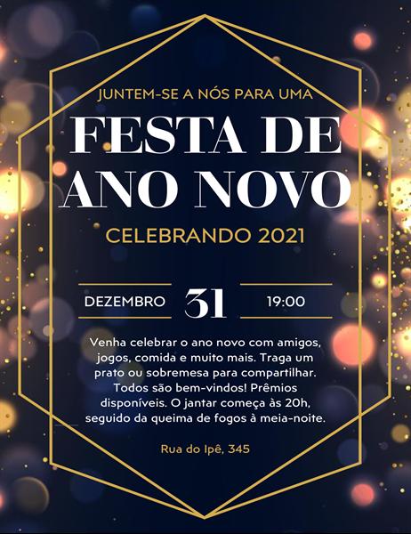 Folheto de Véspera de Ano Novo