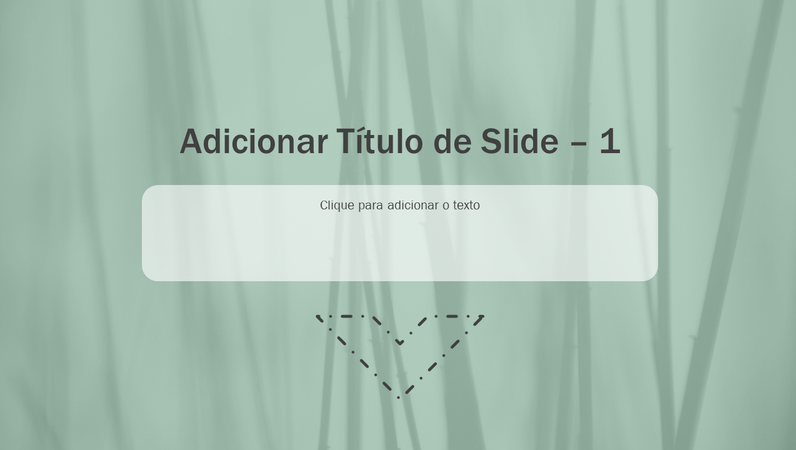 Animação de slide com grama