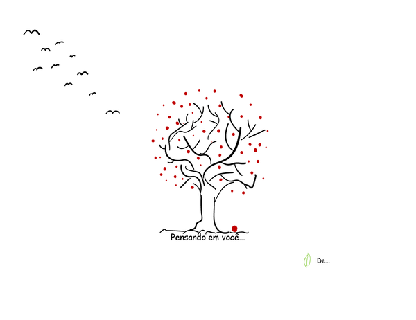 Cartão de Condolências de Árvore