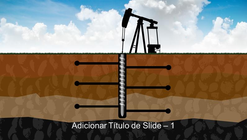 Elemento gráfico de perfuração do solo