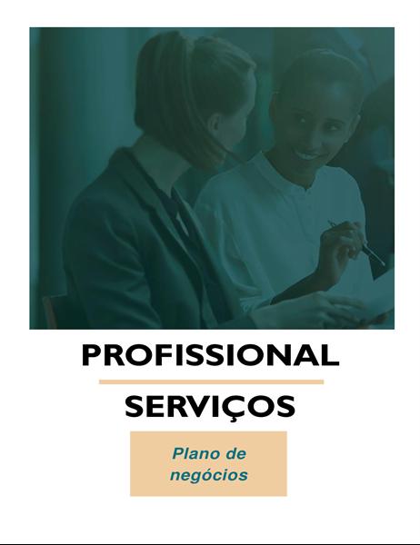 Plano comercial de serviços profissionais